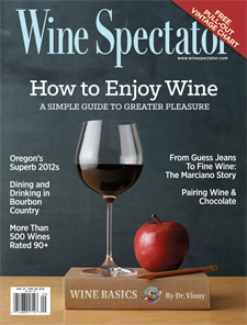 Wine Spectator is the most influential source of wine information on the planet. The magazine features wine ratings, tasting reports, news and features, articles, pictures and other original content you won't find anywhere else.