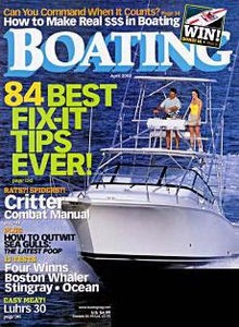 Boating, an industry leader for more than 50 years, delivers comprehensive boating information, including authoritative boat tests, entertaining how-to articles and expert product testing for the 17 to 45-foot boat enthusiast.